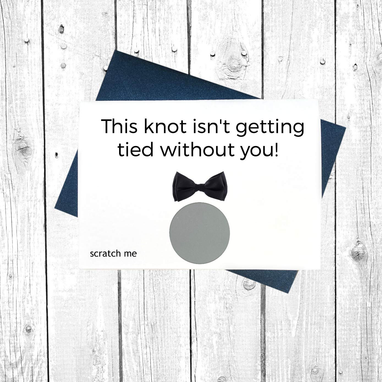 Best man Proposal Groomsman proposal Card Man of honor Scratch off Card Will you be my Groomsman Best Man Card Bridesman Card