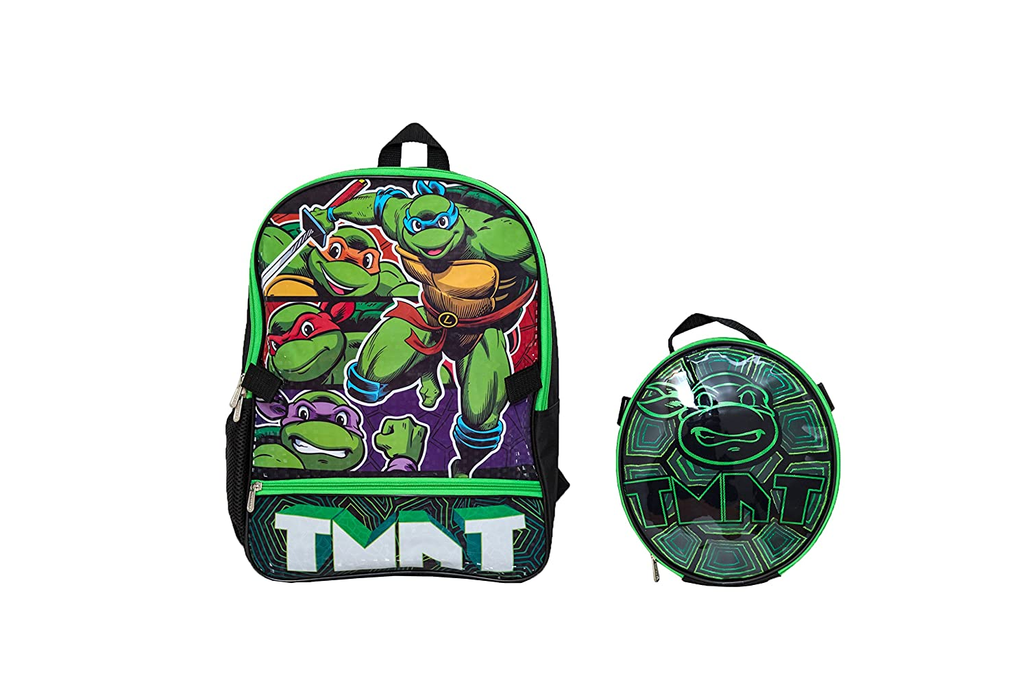 Nickelodeon Teenage Muant Ninja Turtles With Shaped Shell Lunch Kit Backpack