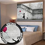 "Banksy Balloon Girl ""There is always hope"" XXL wall paper Wall decoration by Great Art 55 Inch x 39.4 Inch"
