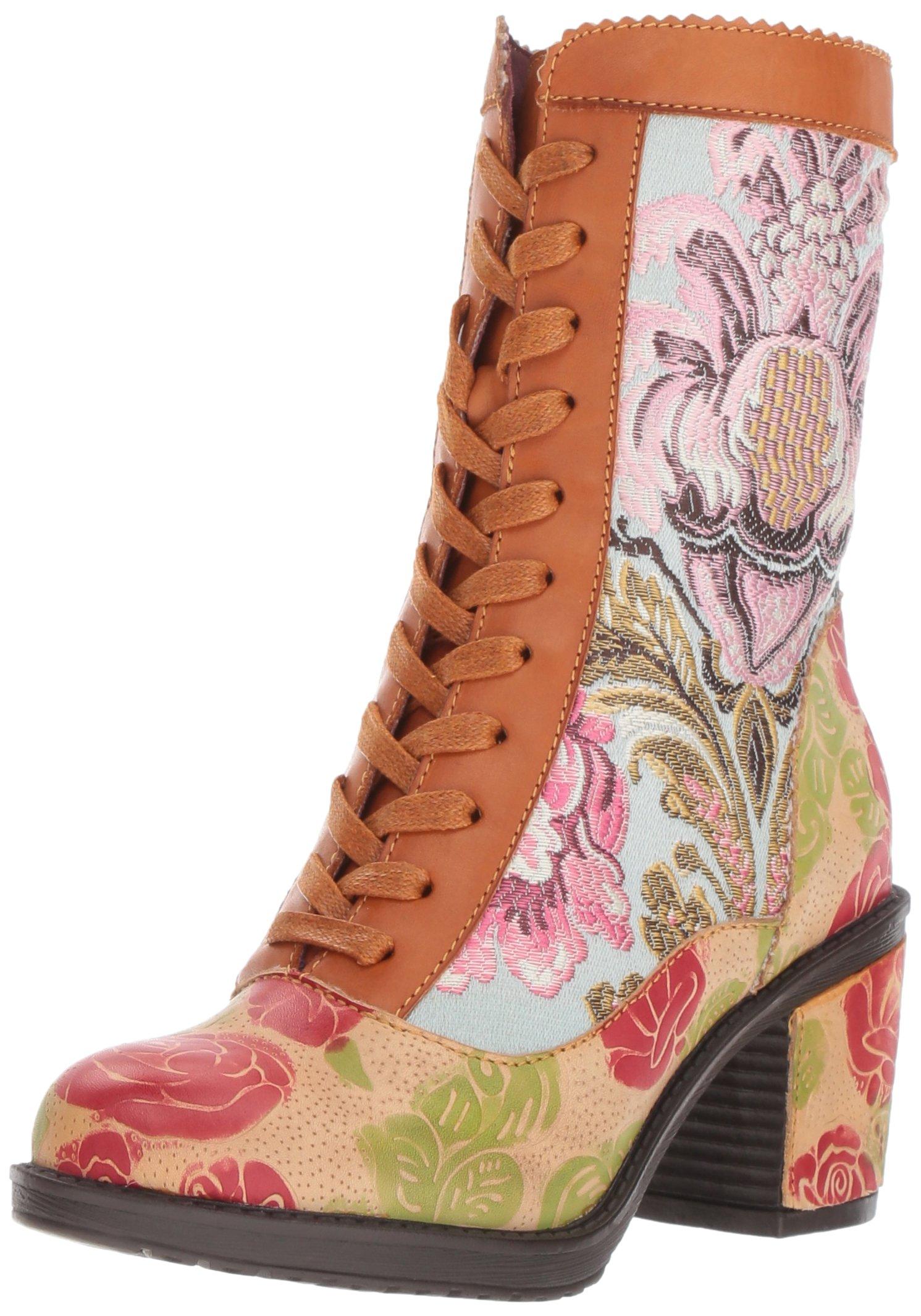 L'Artiste by Spring Step Women's Casandra Boot, Camel, 39 EU/8.5 M US