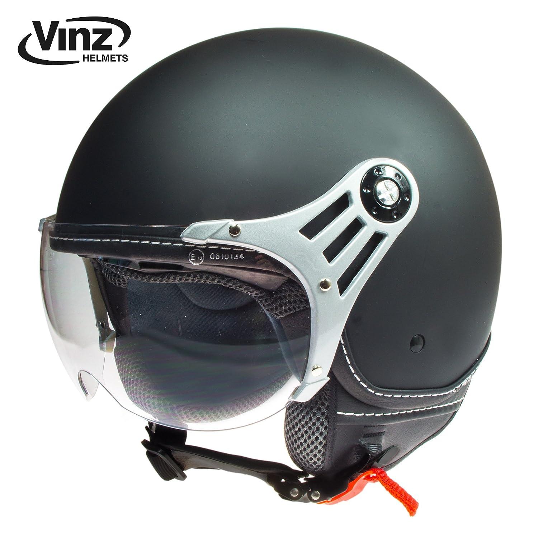 Vinz Jethelm Rollerhelm | In Gr. XS-M | Jethelm Motorrad | ECE zertifiziert (S, Creme) BIS169