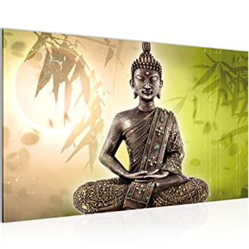 Amazon.de: Bild Buddha Wandbild Vlies - Leinwand Bilder XXL Format ...