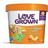 Love Grown Hot Oats, Peach Almond Vanilla, 2.22 Ounce (Pack of 8)
