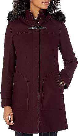 Cole Haan Women's Wool Twill Long Duffel Coat