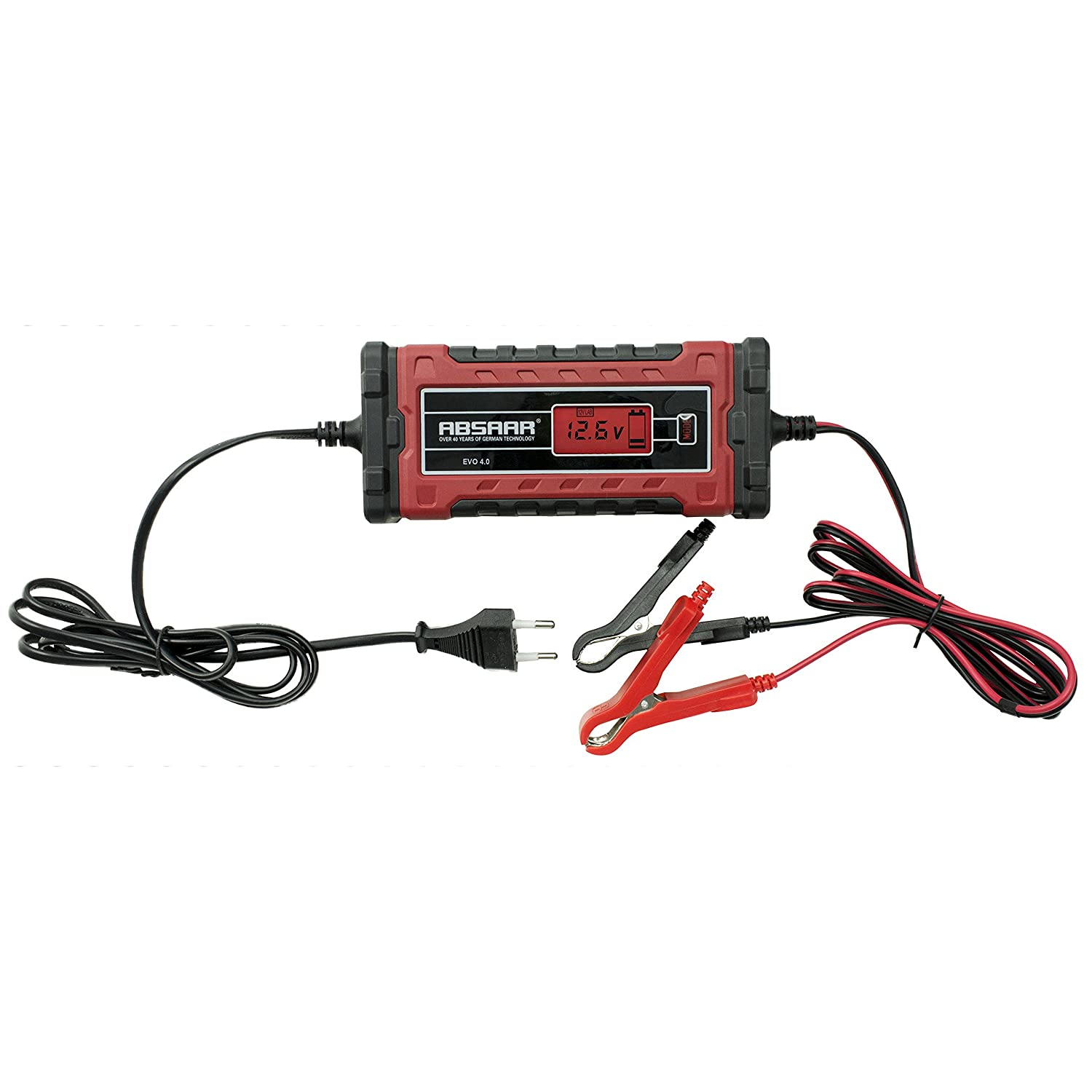 4/a Absaar 158001/Batterie Caricatore Evo Rosso//Nero 6//12/V