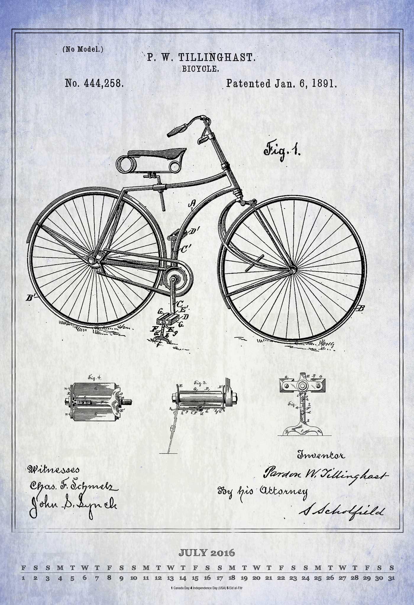 Vintage Patent Blueprints 2016 Poster Ca: Amazon.es: Andrews ...