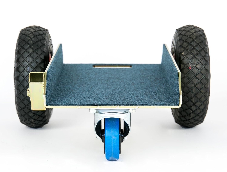 Holzplatten oder Steinplatten zus/ätzliche Lenkrolle TS Allround 350 Air Glastransportwagen luftbereift bis 350 kg,Transportwagen f/ür Glasscheiben Transporthilfe Sackkarre Plattenwagen