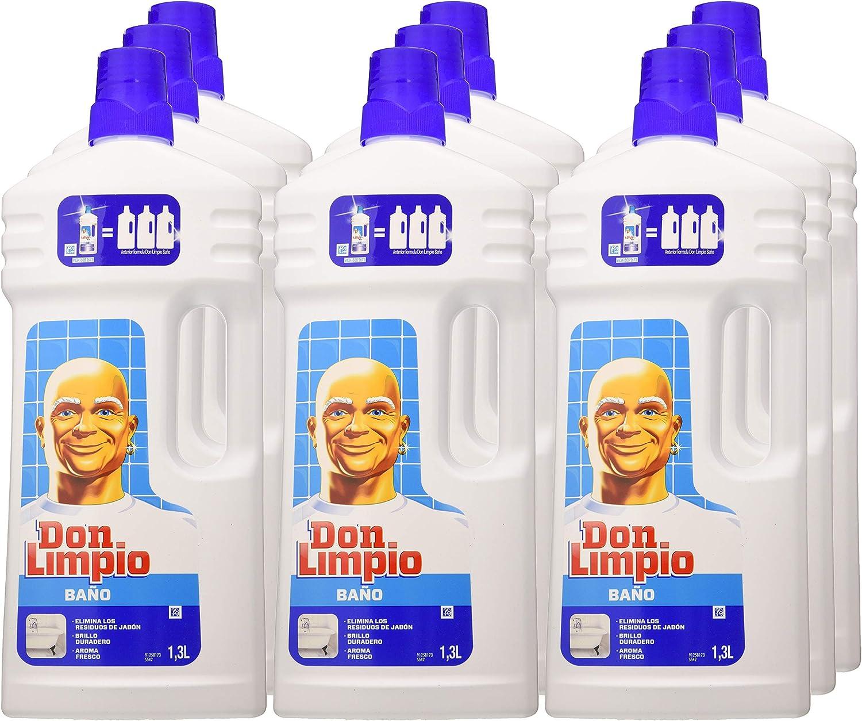 Don Limpio Baño Limpiador Multiusos - 1.5 l, Paquete de 9: Amazon.es: Salud y cuidado personal
