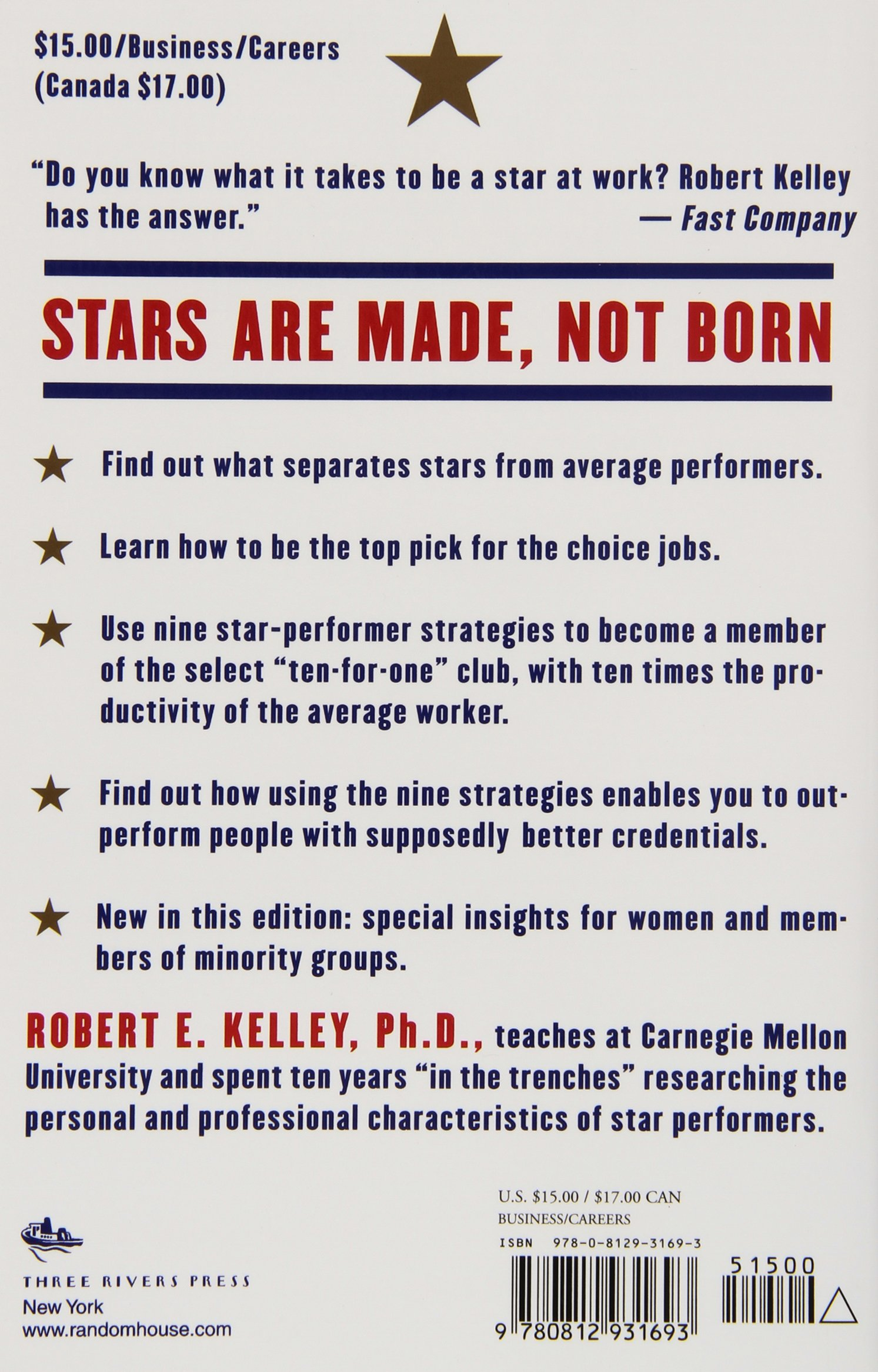 Superb How To Be A Star At Work: 9 Breakthrough Strategies You Need To Succeed:  Robert E. Kelley: 9780812931693: Amazon.com: Books