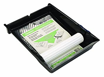 Padco 83606 Earth Friendly Painting Roller and Paint Pad Tray with 10-Inch Transfer Wheel