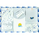 FG Trendz New Born Unisex Baby Clothing Mini Berry Gift Set-13 Pieces (Blue)