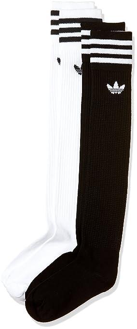 Adidas Solid Knee Sock Calcetines, Hombre, Blanco (Blanco/Negro), 27-30: Amazon.es: Deportes y aire libre