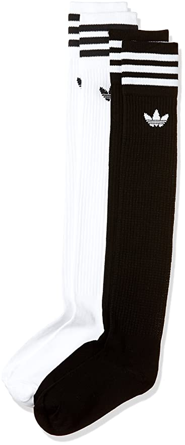 Adidas Solid Knee Sock Calcetines, Hombre, Blanco (Blanco/Negro), 27