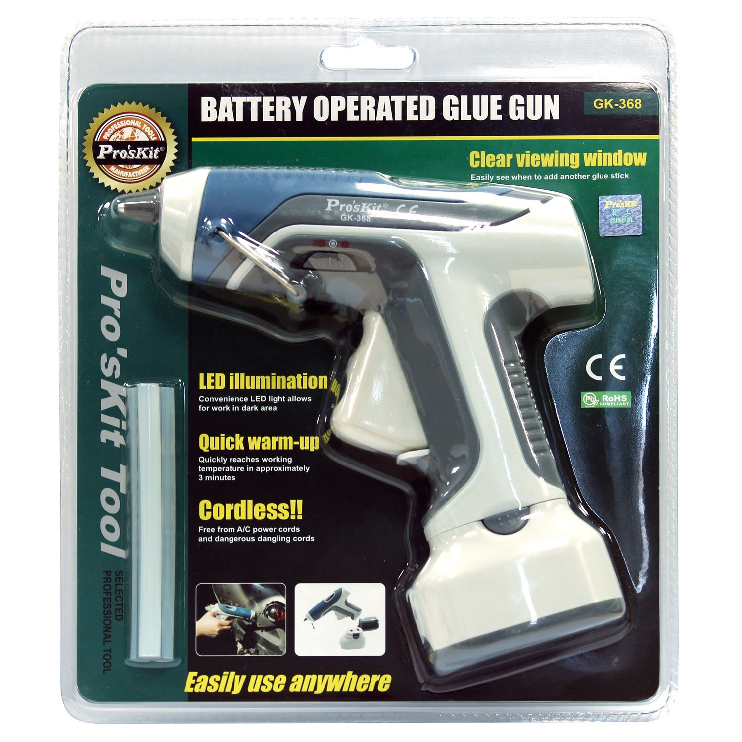 Pro'sKit GK-368 Battery Operated Glue Gun