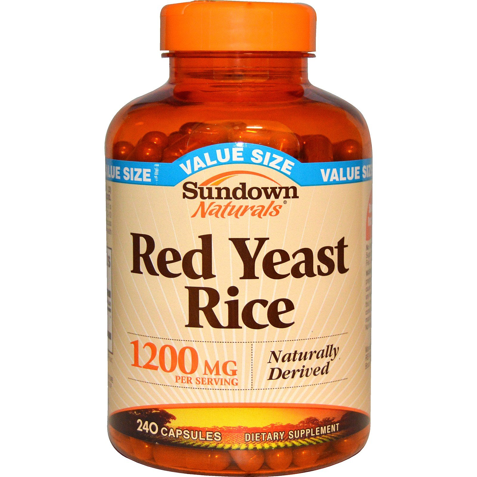Rexall Sundown Naturals, Red Yeast Rice, 1200 mg, 240 Capsules - 2pc