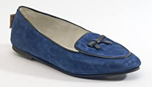French Sole Women's Sweet Navy Suede Flat