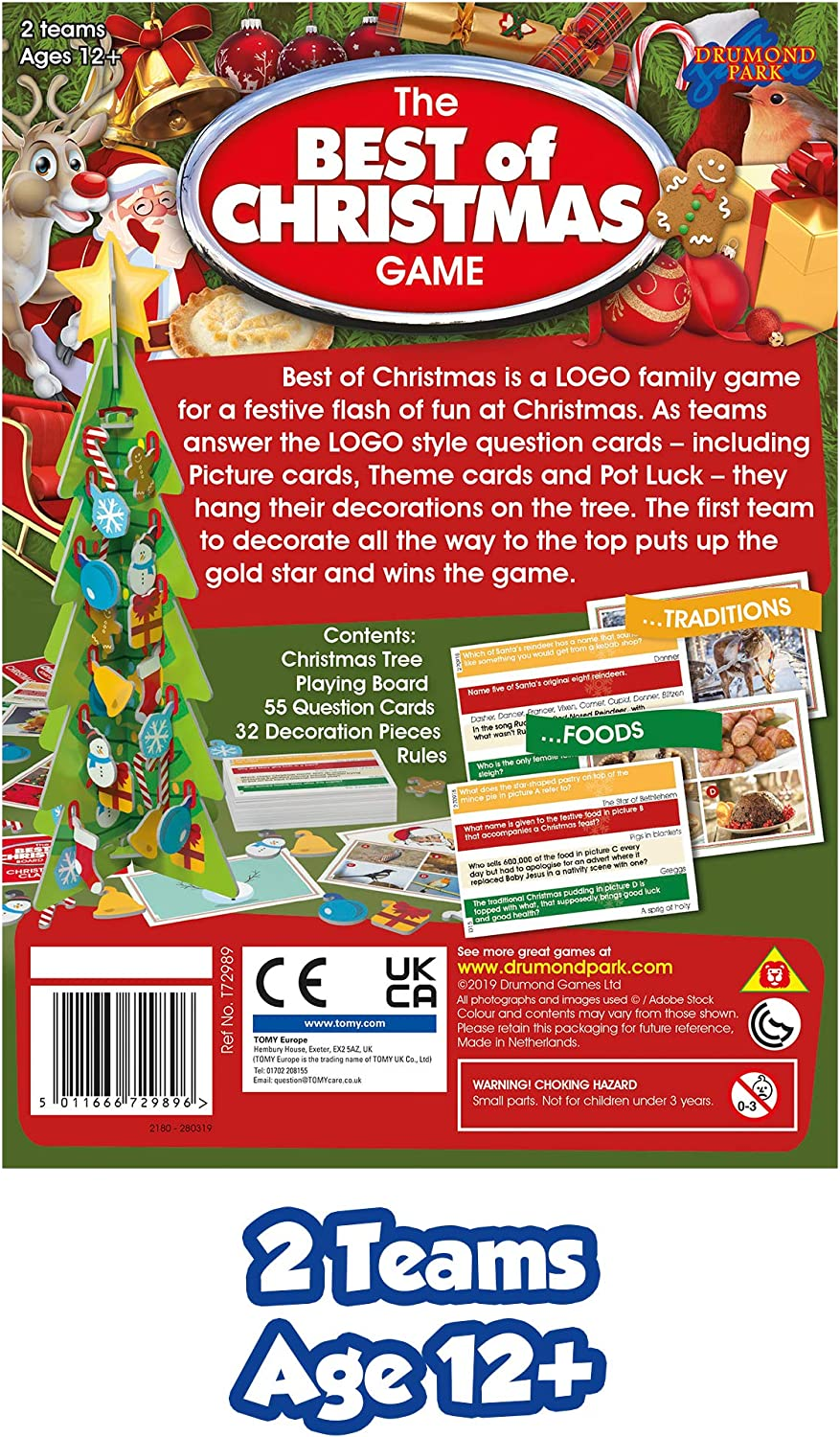 Drumond Park The Best of Christmas Family Board Game Logo Family Games for Adults and Kids Suitable from 12 Cracking Christmas Trivia for All The Family Years