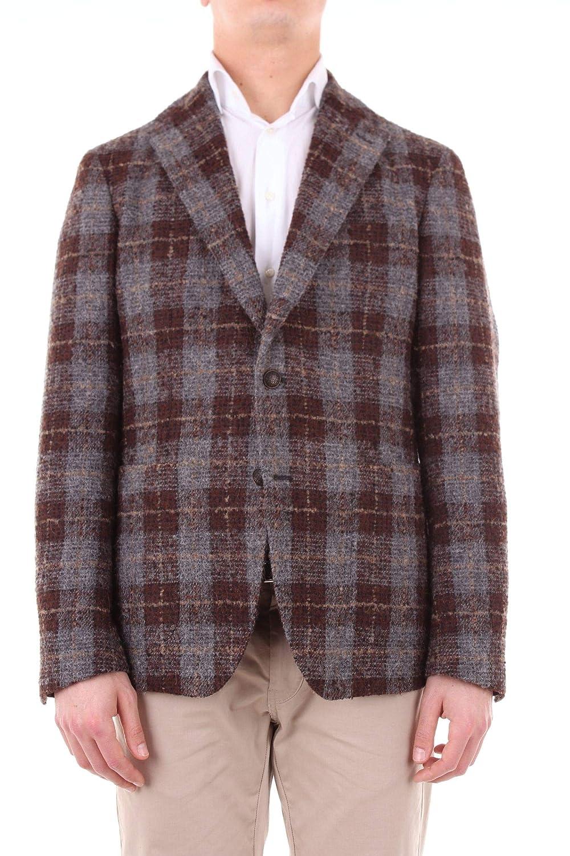 5d35b74c2 Tagliatore By Pino Lerario Men's 1SMC22K77QIG162GREYBROWN Grey Grey Grey  Wool Blazer 26d162