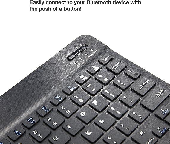 BoxWave Jet Black ioutdoor X Keyboard SlimKeys Bluetooth Keyboard Portable Keyboard with Integrated Commands for ioutdoor X