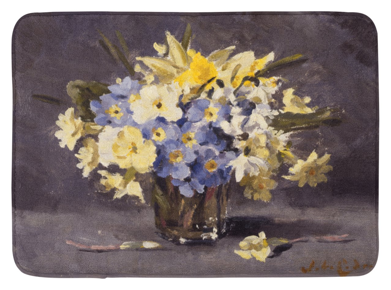 Carolines Treasures Spring Bouquet by John Codner Floor Mat 19 x 27 Multicolor