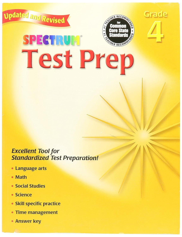 Grade 4 Carson-Dellosa CD0769686249 Spectrum Test Prep Workbook