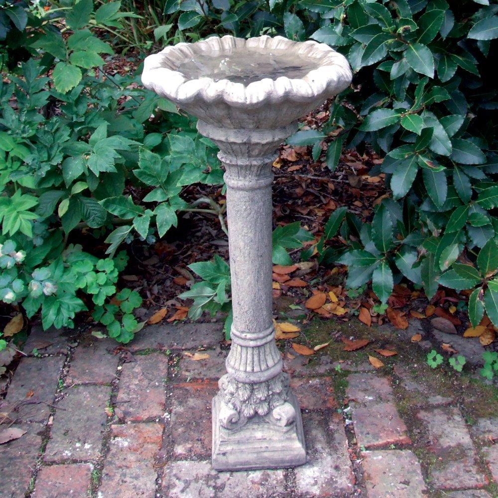 Garden Bird Bath Corinthian Design Stone Birdbath Feeder