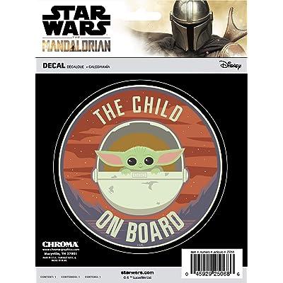 Chroma Graphics Mandalorian The Child ON Board E Stick Onz Decal: Automotive