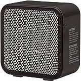 AmazonBasics 500-Watt Ceramic Small Space Personal Mini Heater - Black (Renewed)