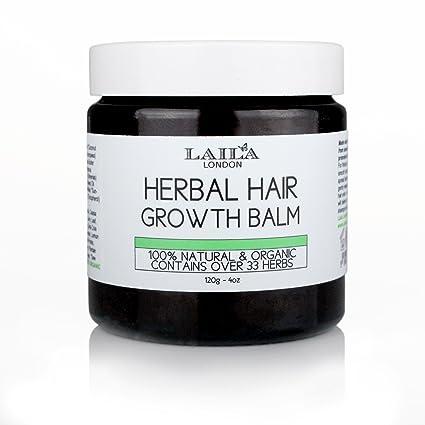 Bálsamo para crecimiento del cabello Herbal Organic, 100 % natural, promueve el