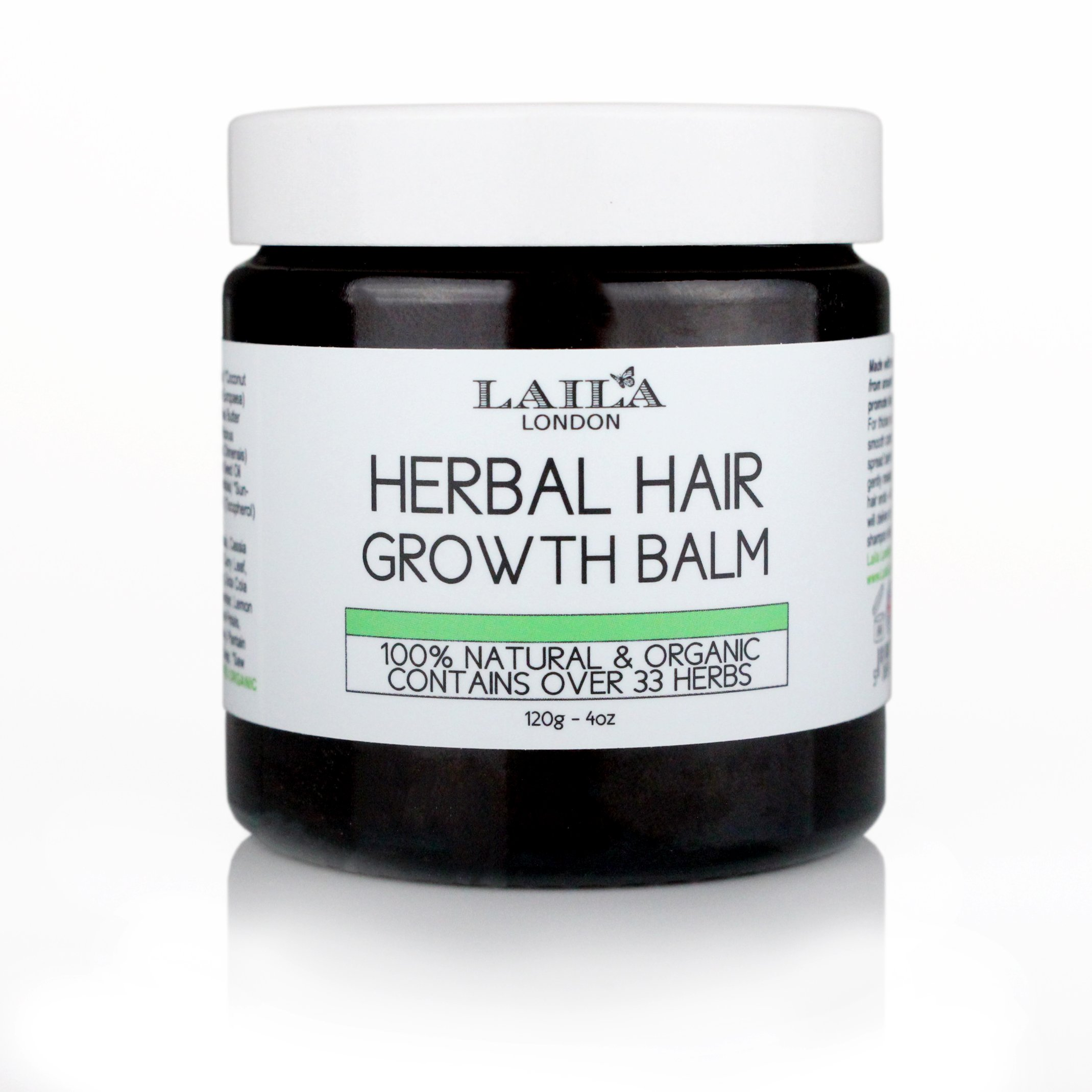 Hair Growth Herbal Organic Balm 100% Natural Promotes Intense Treatment for Natural Relaxed, Chemically Treated, Afro, African American. with Shea Butter, Coconut Oil Argan Jamaican Castor Oil 4C