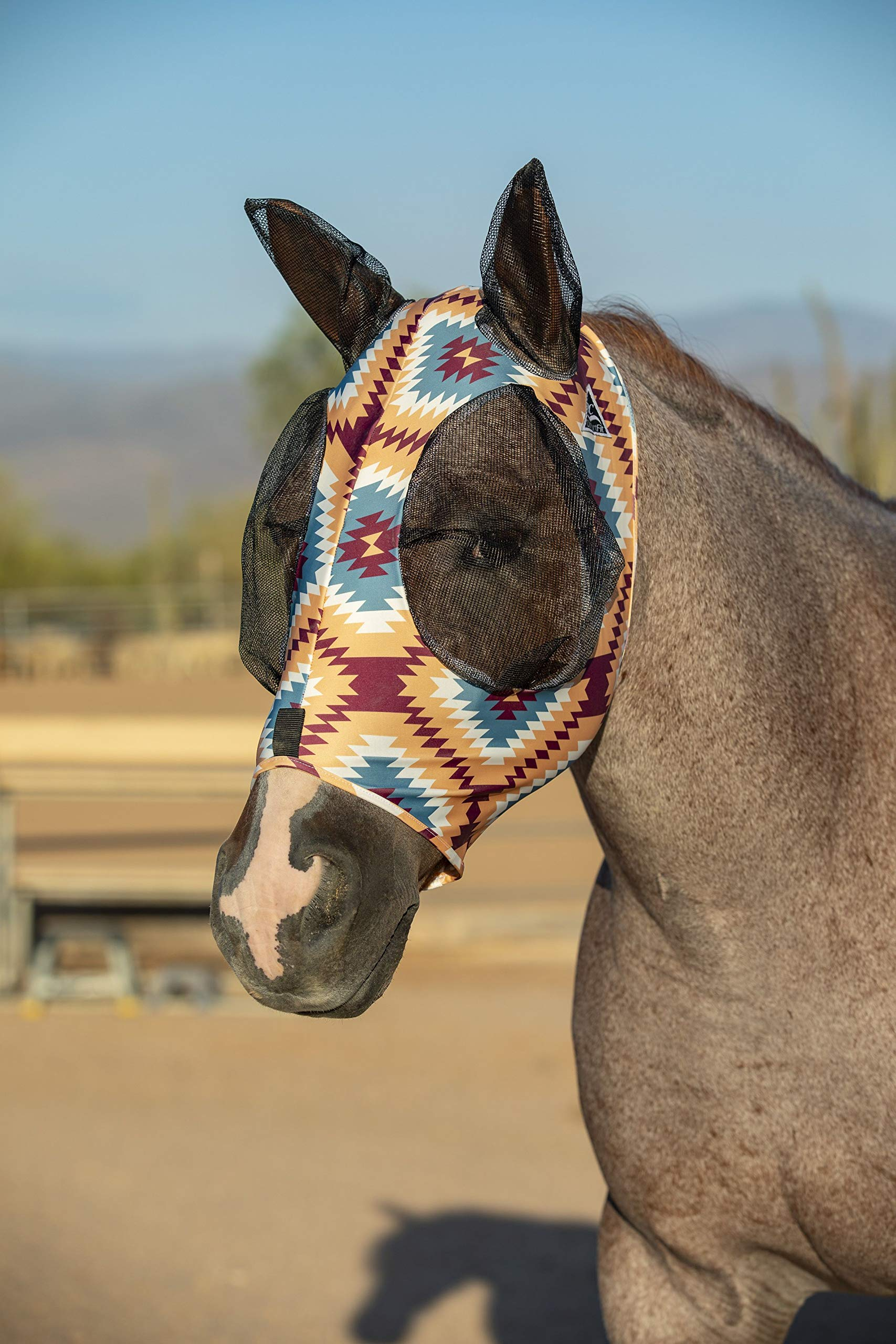 Professional`S Choice Comfort Fit Fly Mask Aztec Horse