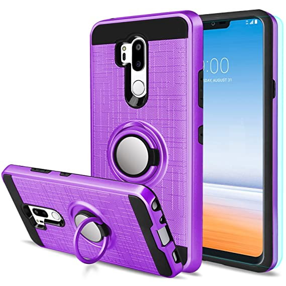 new style 2ea3f ac7a1 Amazon.com: LG G7 Case LG G7 ThinQ Case with HD Screen Protector ...