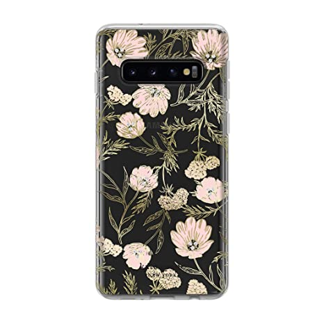 reputable site 489ed 71e86 Kate Spade New York Phone Case | for Samsung Galaxy S10 | Protective Clear  Crystal Hardshell Phone Cases with Slim Floral Design and Drop Protection -  ...
