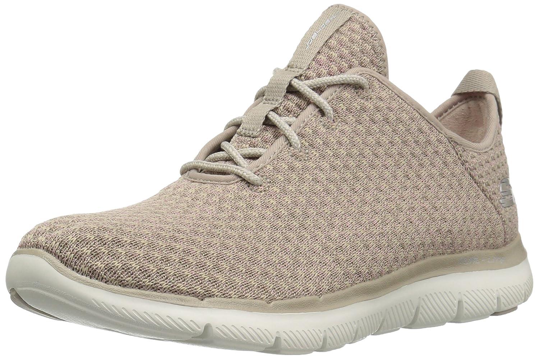 Skechers Damen Flex Appeal 2.0-Bold Move Slip on Sneaker, Schwarz (Black/Charcoal), 38 EU