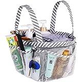 Haundry Mesh Shower Caddy Tote, White College Dorm Bathroom Tote 8 Pockets, Portable Shower Basket Camp Gym