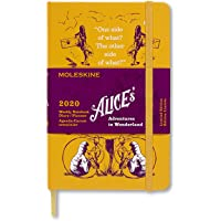 "Moleskine Limited Edition Alice In Wonderland 12 Month 2020 Weekly Planner, Hard Cover, Pocket (3.5"" x 5.5"") Yellow"