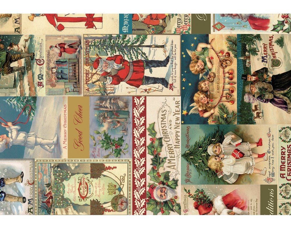 3 Decopatch Paper Sheets - Vintage Christmas Scene | Decoupage Crafts Crafty Capers