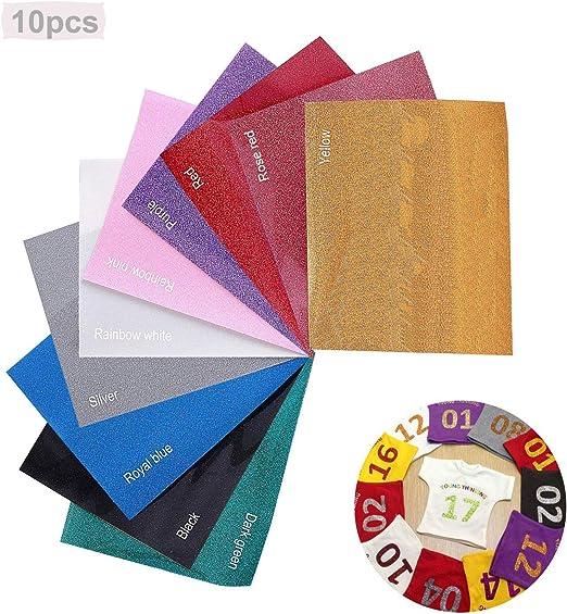 10 PCS Papel de vinilo textil imprimible | Hojas de vinilo de ...