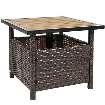 BUY JOY Patio Umbrella Stand Wicker Rattan Outdoor Furniture Garden Deck  Pool