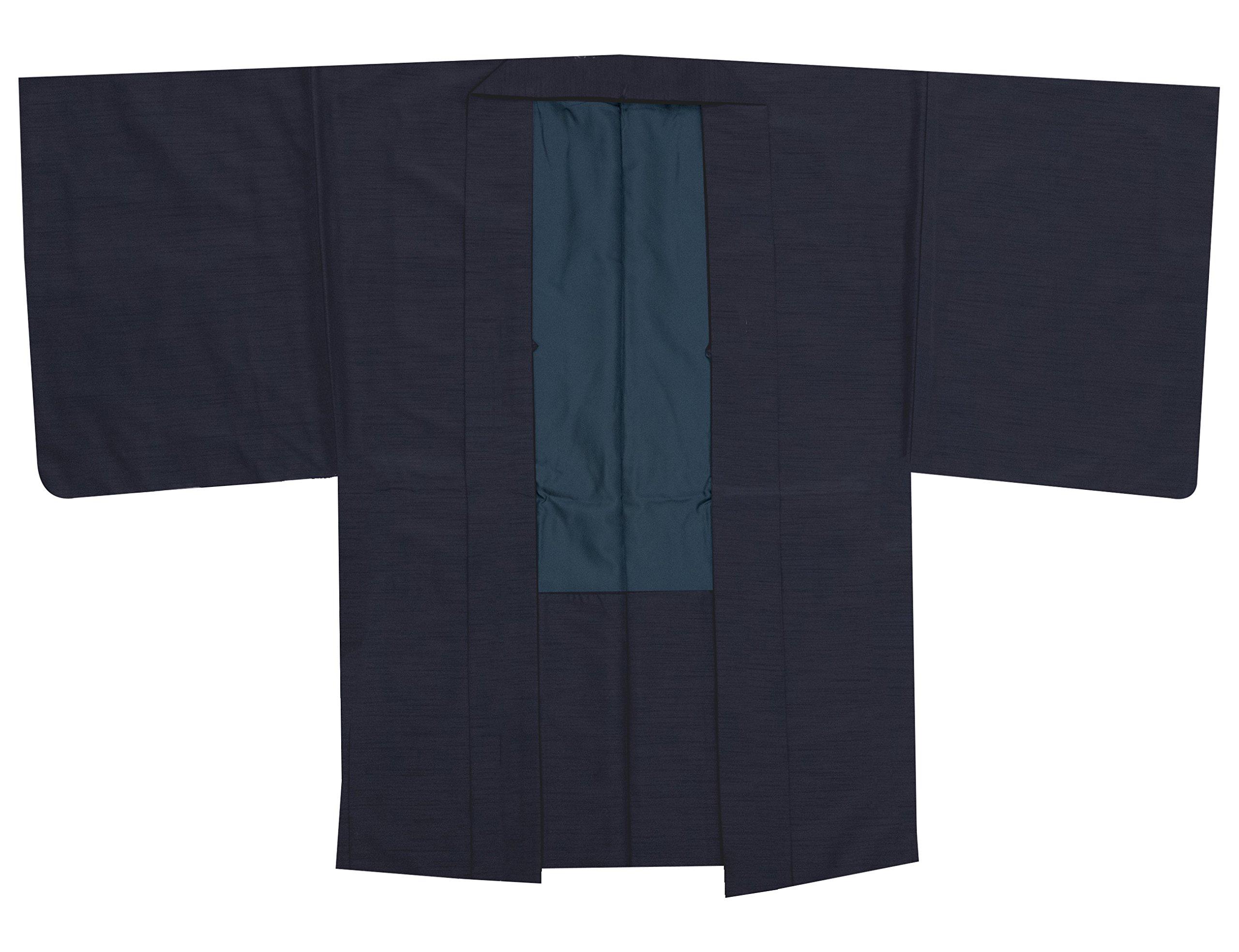 bbdef03f55da2c [キョウエツ] 羽織 洗える 袷 無地 紬生地 単品 メンズ product image
