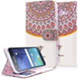 NageBee PU Leather Flip Fold Wallet Case for Samsung Galaxy S3 - Royal Totem