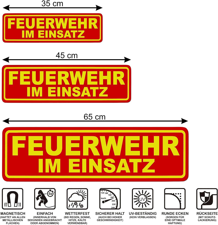 mehrere Gr/ö/ßen lieferbar LOHOFOL Magnetschild Feuerwehr IM Einsatz Schild magnetisch 65 x 19 cm