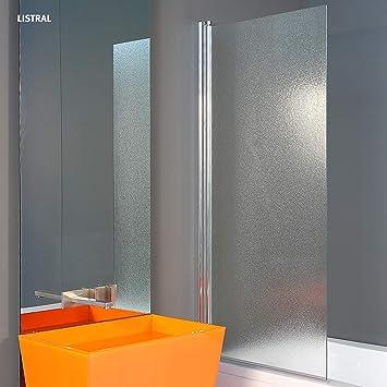 1400 x 660 mm vidrio LISTRAL Partición de Ducha Para el Baño ...
