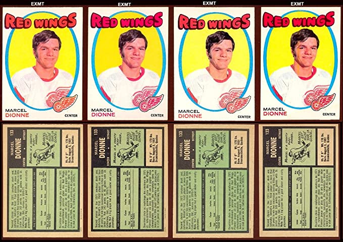 1971 O-Pee-Chee Regular (Hockey) Card# 133 Marcel Dionne of the Detroit Red Wings ExMt Condition at Amazons Sports Collectibles Store