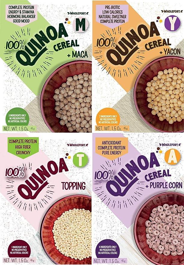 Amazon.com: Quinoa Cereal 4 Flavor Sampler (100% All Natural, Vegan, Non-GMO)