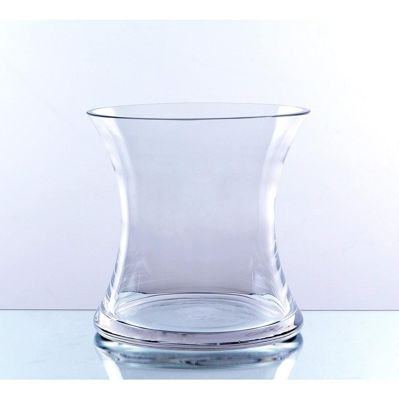 WGV klar kurz Hurricane konkav Glas Vase, 17,8 cm