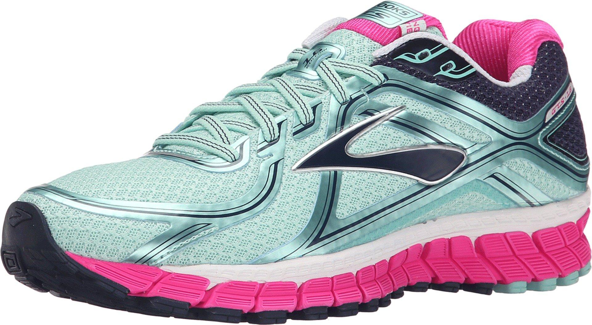 Brooks Women's Adrenaline GTS 16 Blue Tint/Pink Glo/Peacoat Sneaker 6.5 B (M)