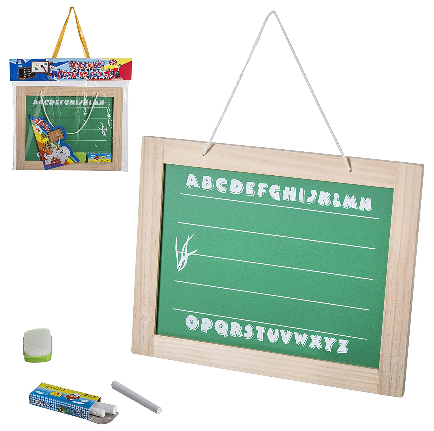 96845 Juinsa-96845 Chalkboard Wall Board with Chalk and Eraser