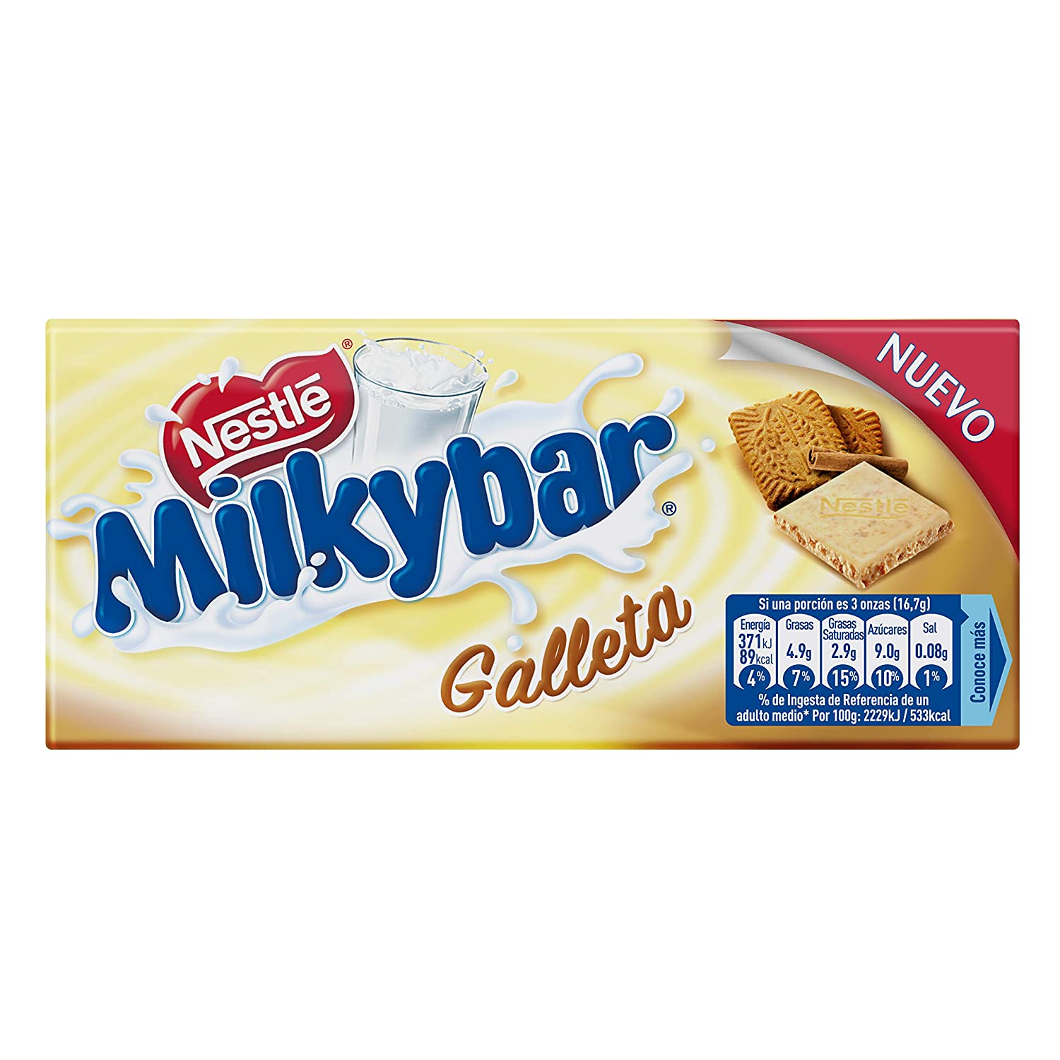 Nestlé Milkybar Chocolate Blanco con galleta - Tableta de chocolate blanco 20x100g: Amazon.es: Alimentación y bebidas