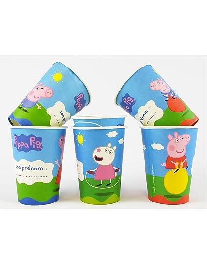 COOLMP - Juego de 12 Vasos de cartón Peppa Pig 25 cl 9,5 x 7 ...